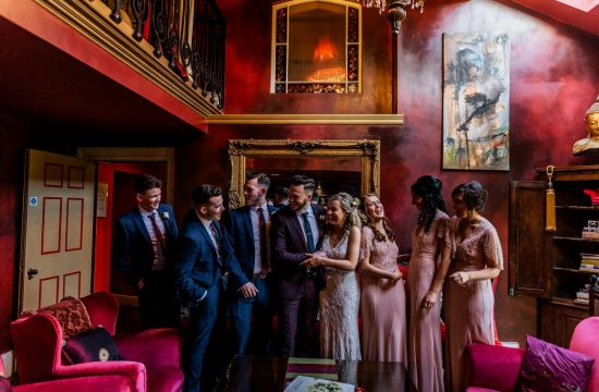 Ballinacurra house wedding relaxed bridal party group