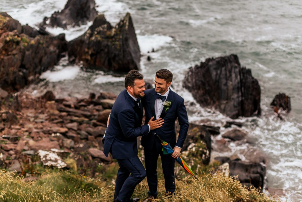 Best Cork wedding photographer gay dingle skelligs