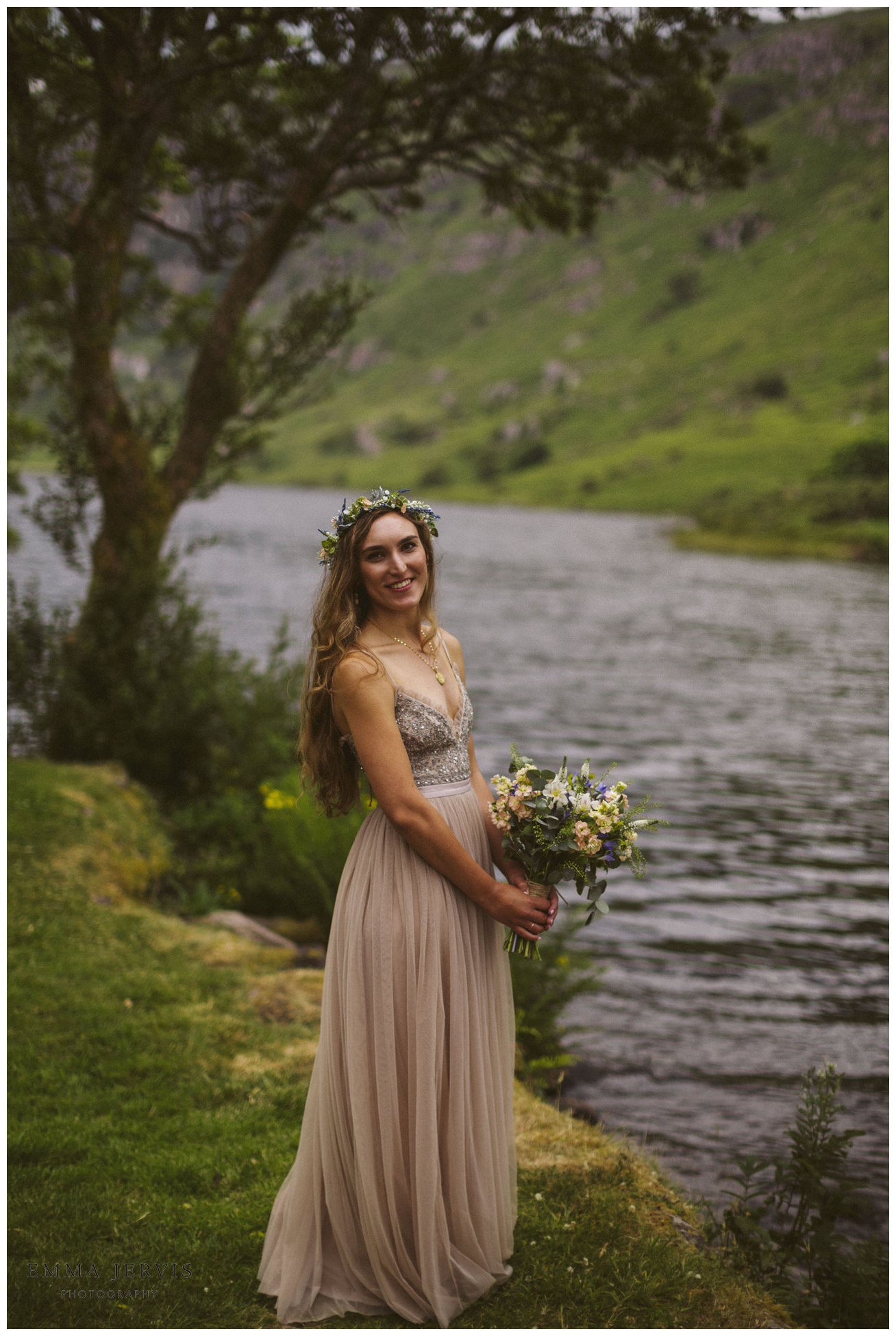 Gougane barra wedding, boho wedding, emma jervis, cork wedding photographer, elope to ireland