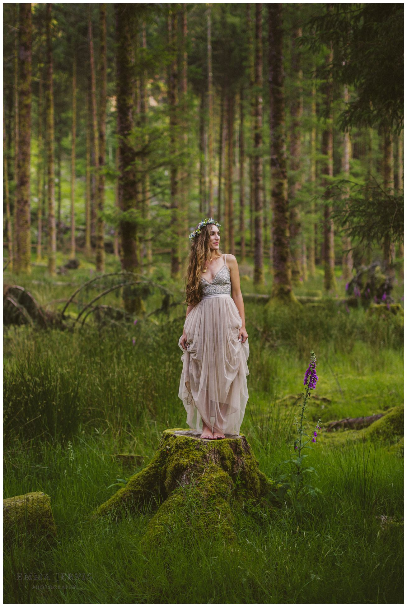 Gougane Barra wedding forest bride