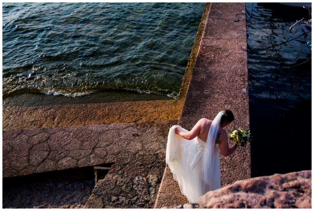 torri del benaco lake garda bride