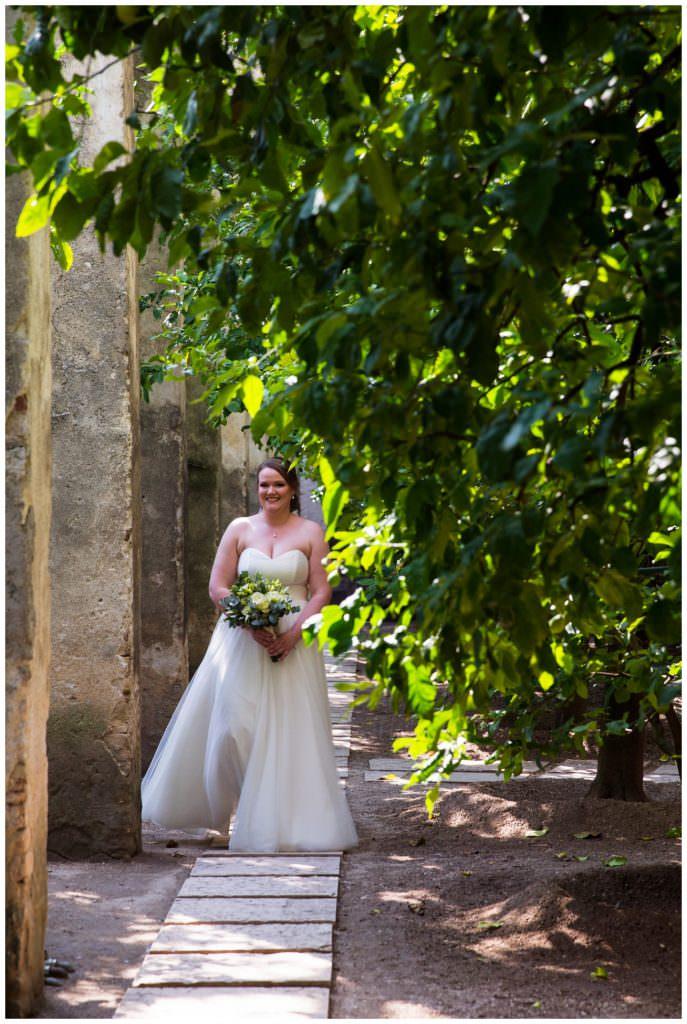 Destination wedding Lake Garda bride orangerie