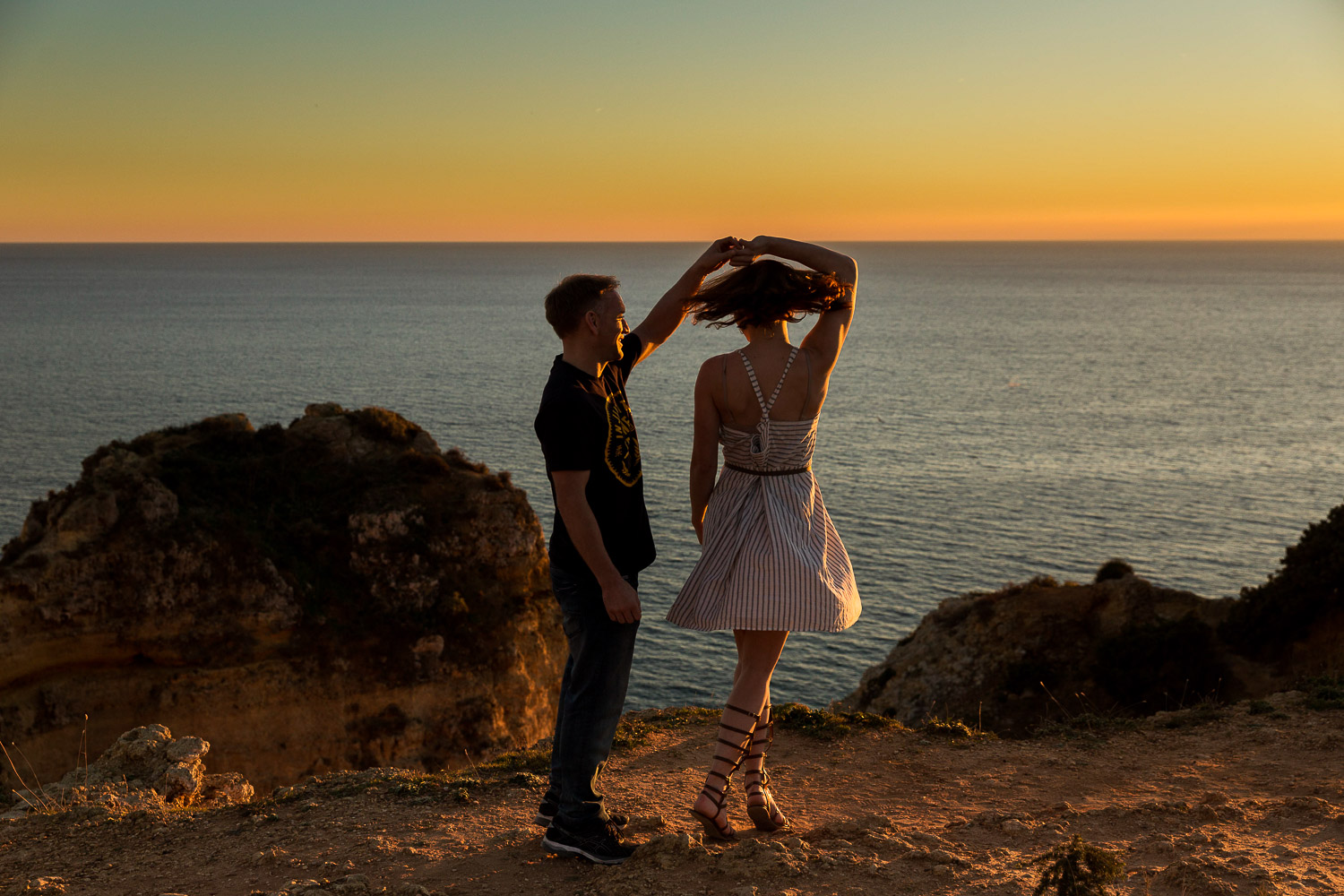 lagos, sunset shoot, couple shoot, love shoot, sunset shoot, emma jervis photography, algarve wedding photography