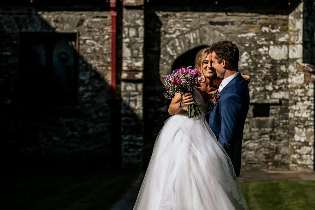 West cork wedding venue couple kissing