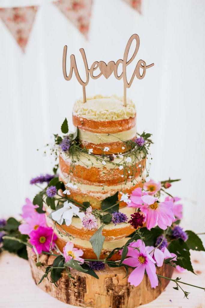 naked cake west cork wedding drishane house
