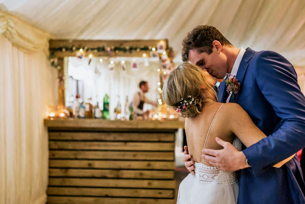 west cork wedding boho couple kissing