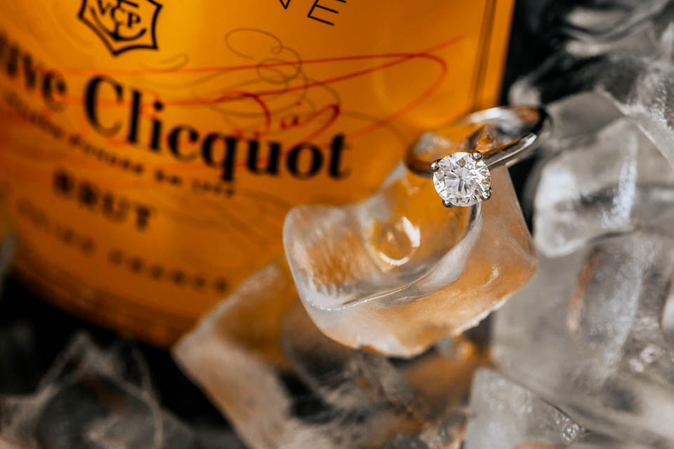 inchydoney lodge and spa veuve clicquot diamond ring