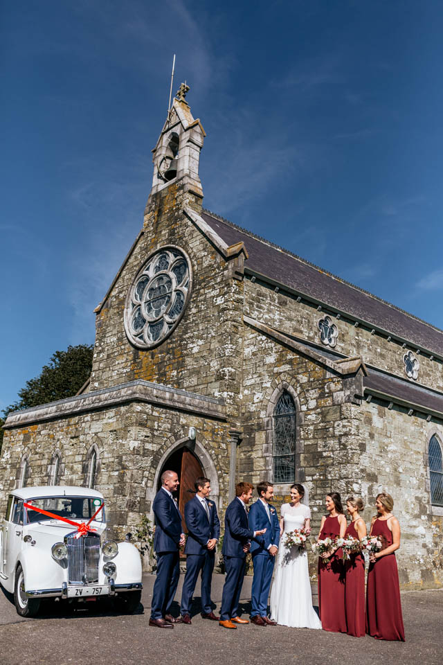 Inchydoney lodge and spa wedding group church