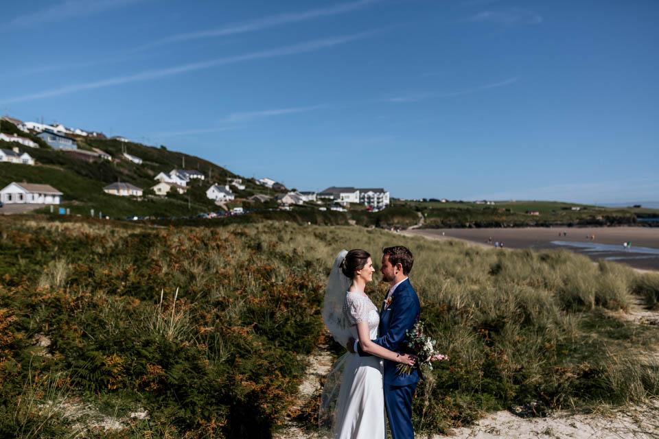 Inchydoney beach wedding bridal portrait
