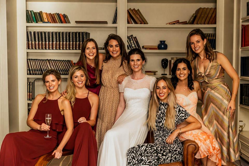 Inchydoney lodge and spa wedding girls shot