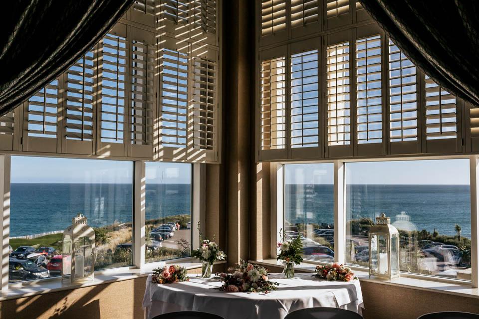 Inchydoney lodge and spa wedding view beach