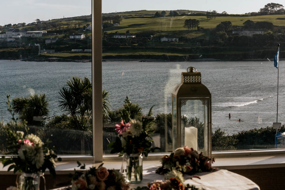 Inchydoney lodge and spa wedding view