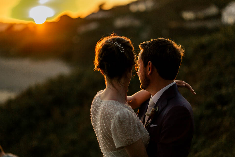 sunset Inchydoney lodge and spa wedding