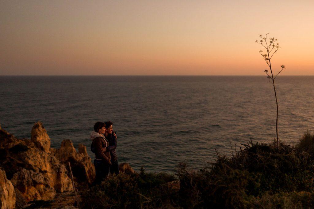 Algarve wedding golden hour sunset shoot gay