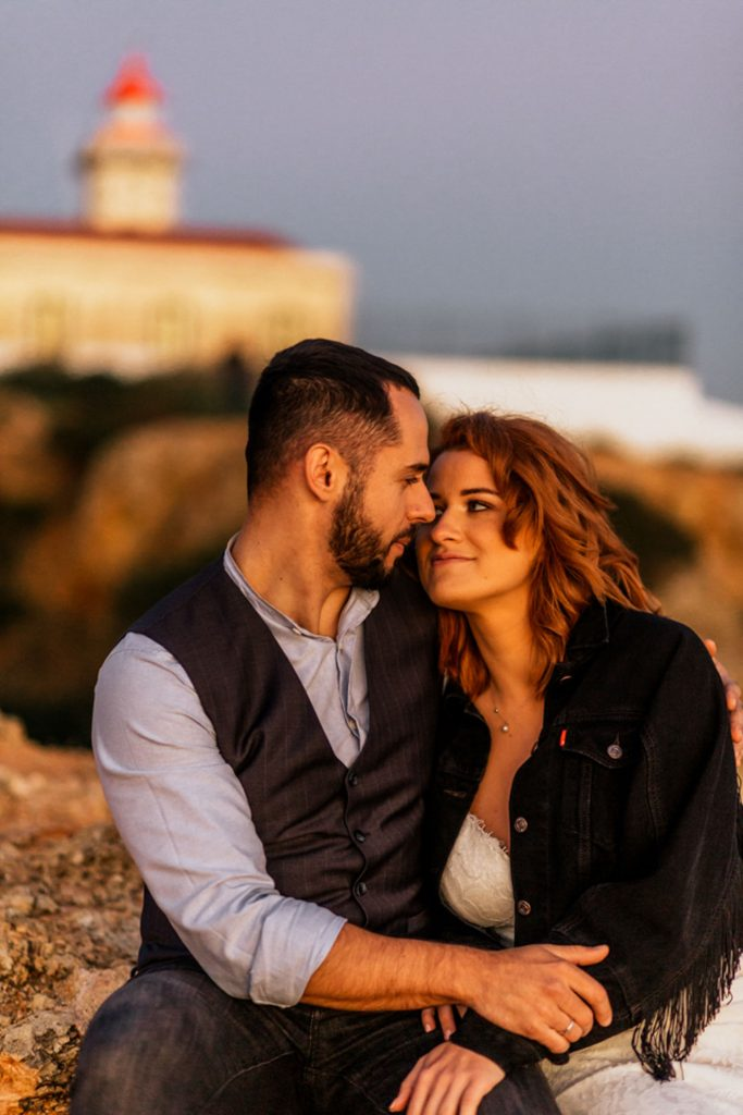 Algarve wedding golden hour sunset shoot