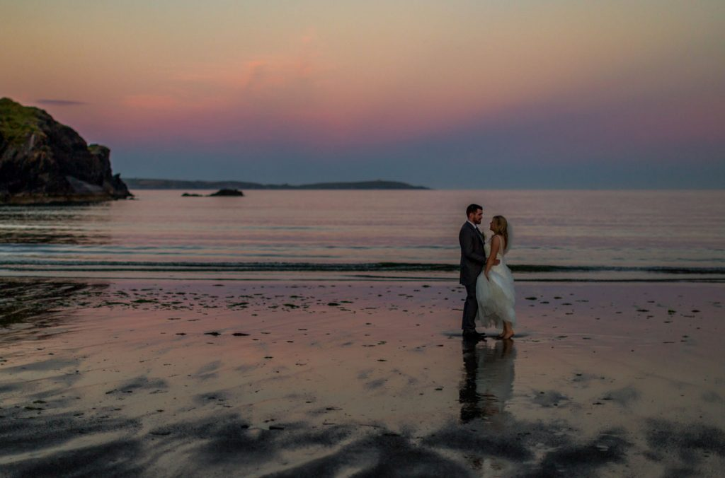 West Cork wedding golden hour sunset shoot