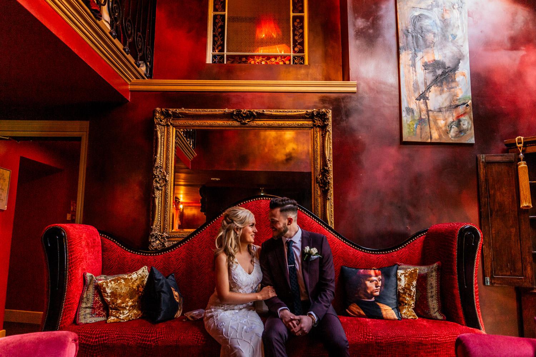 Ballinacurra house wedding couple sitting