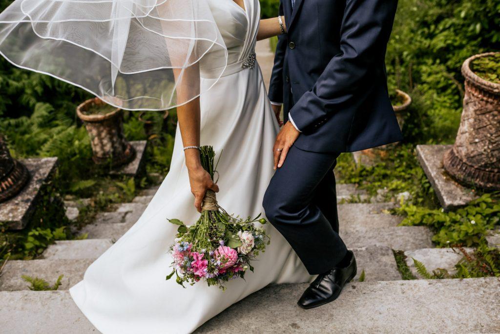 Bantry House wedding couple flowers