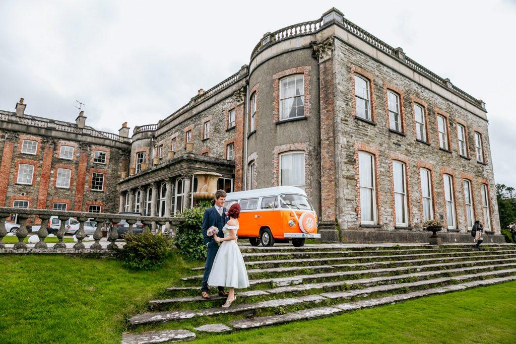 Bantry house orange vintage vw camper