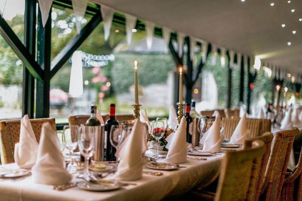 Wedding table decor Blairscove house