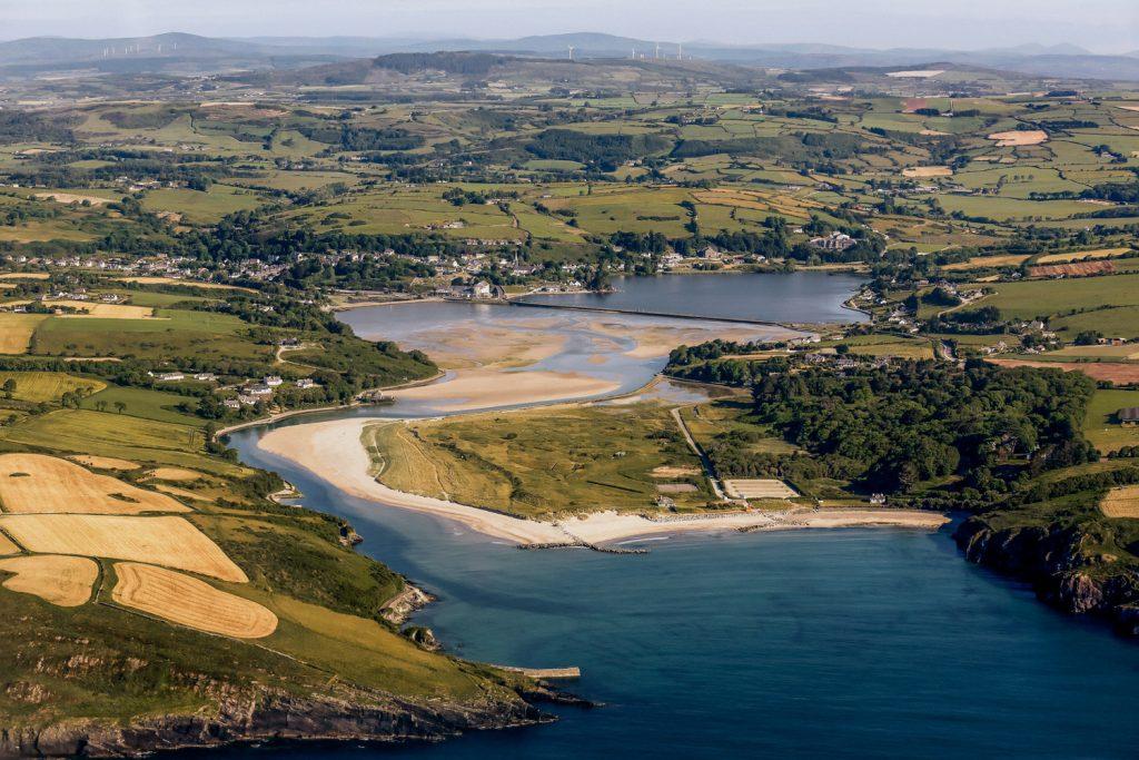 Aerial image of warren strand beach