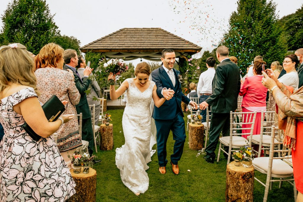 Fernhill house outside wedding ceremony
