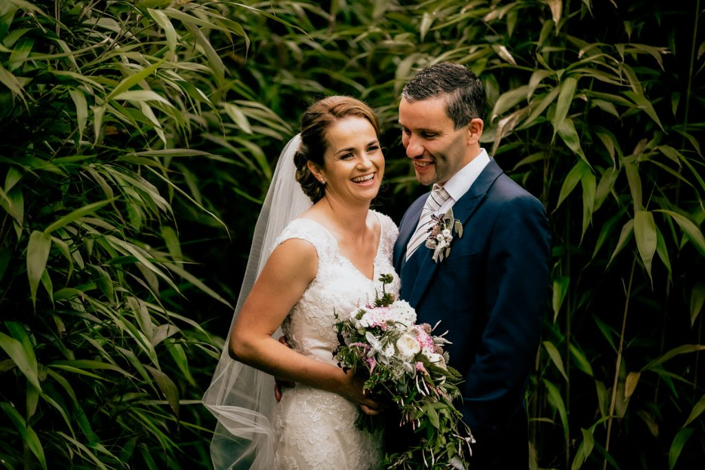 Fernhill house wedding couple in abmboo