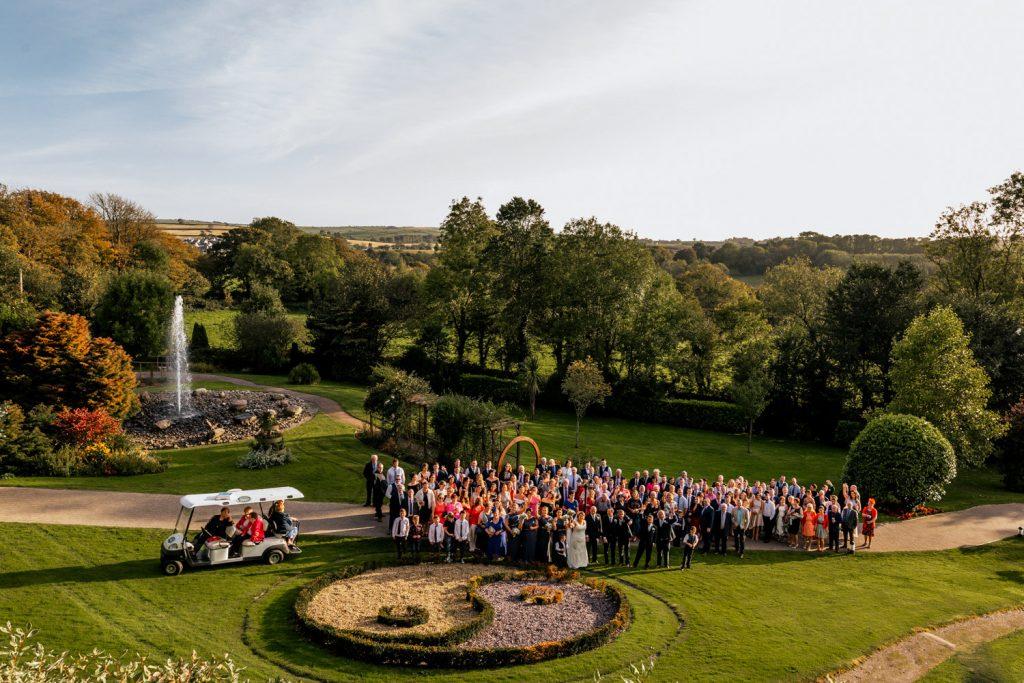 Fernhill house gardens wedding group