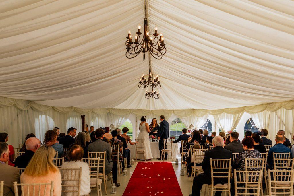 Fernhill house hotel marquee wedding