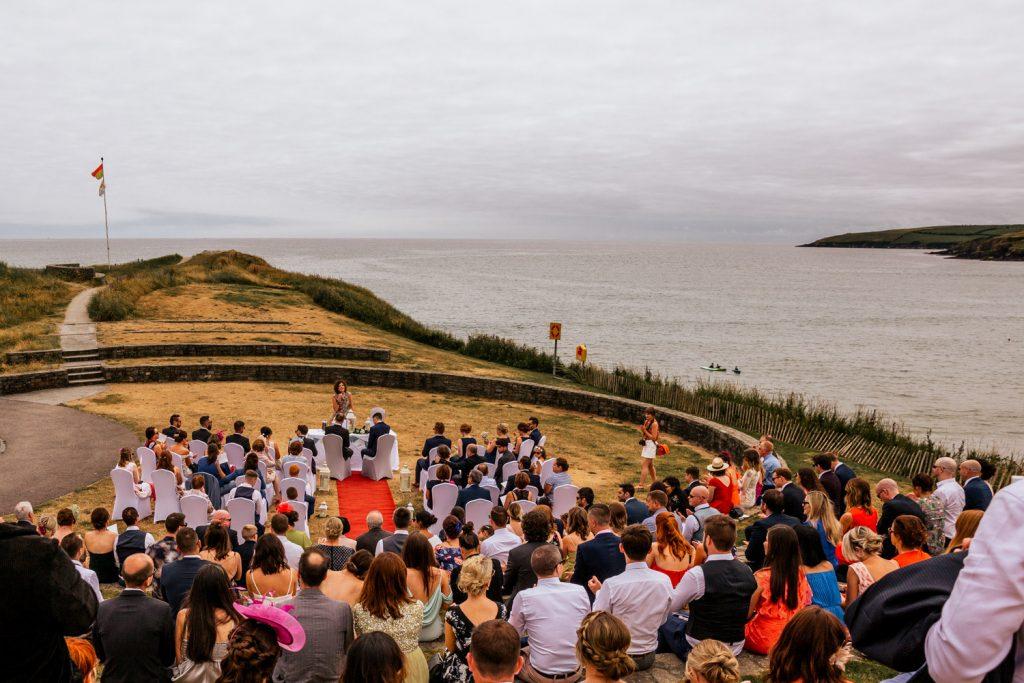 Inchydoney lodge amphitheatre wedding