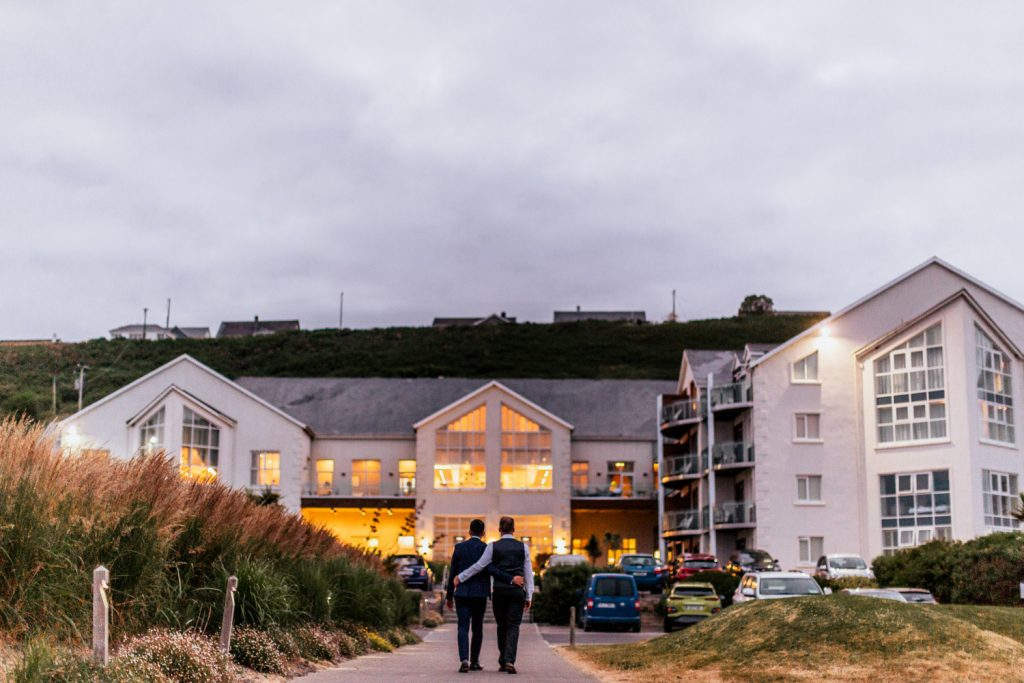 Two grooms at Inchydoney wedding