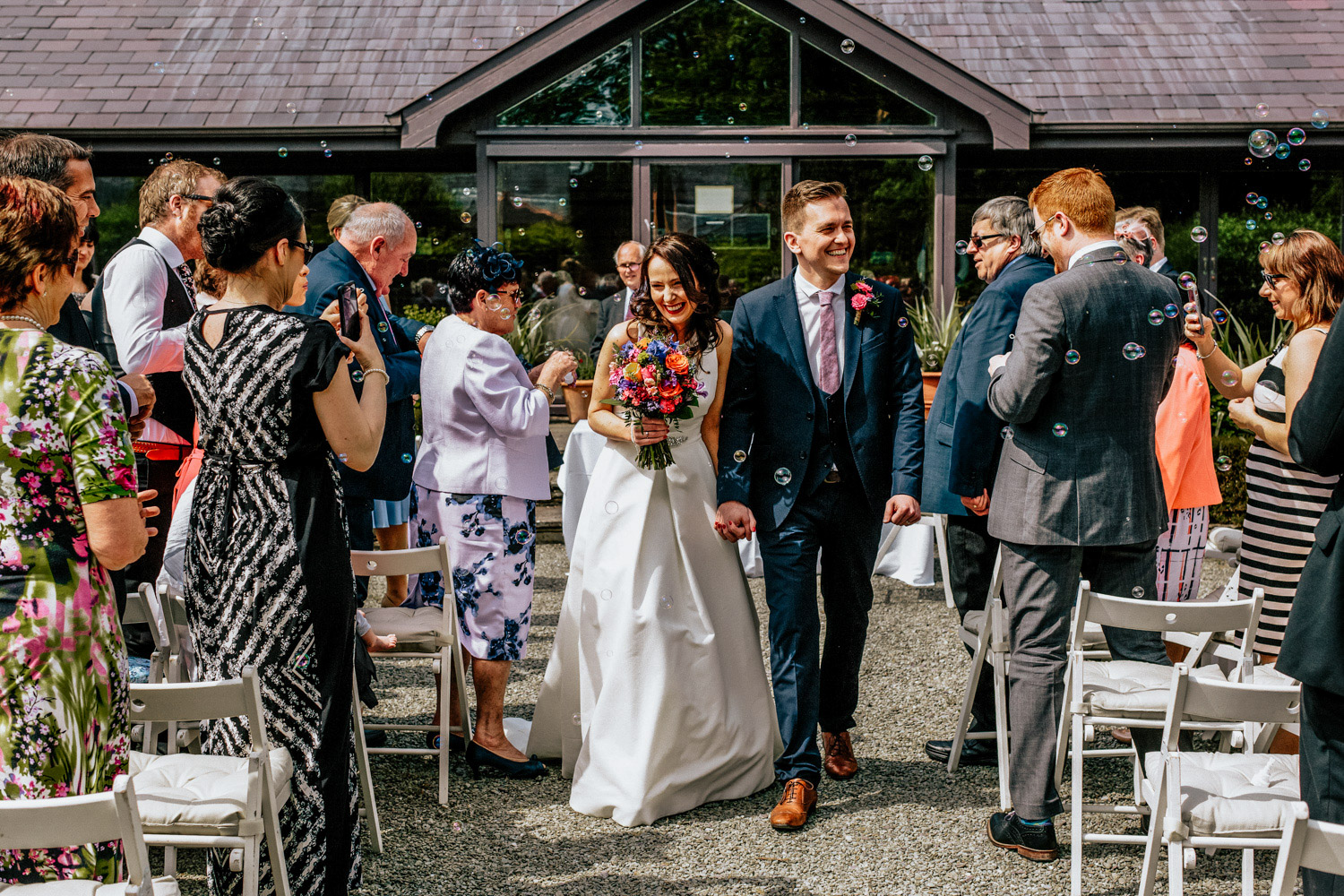 Inish Beg walled garden wedding