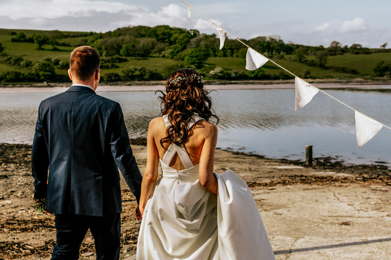 Inish Beg Estate wedding couple estuary