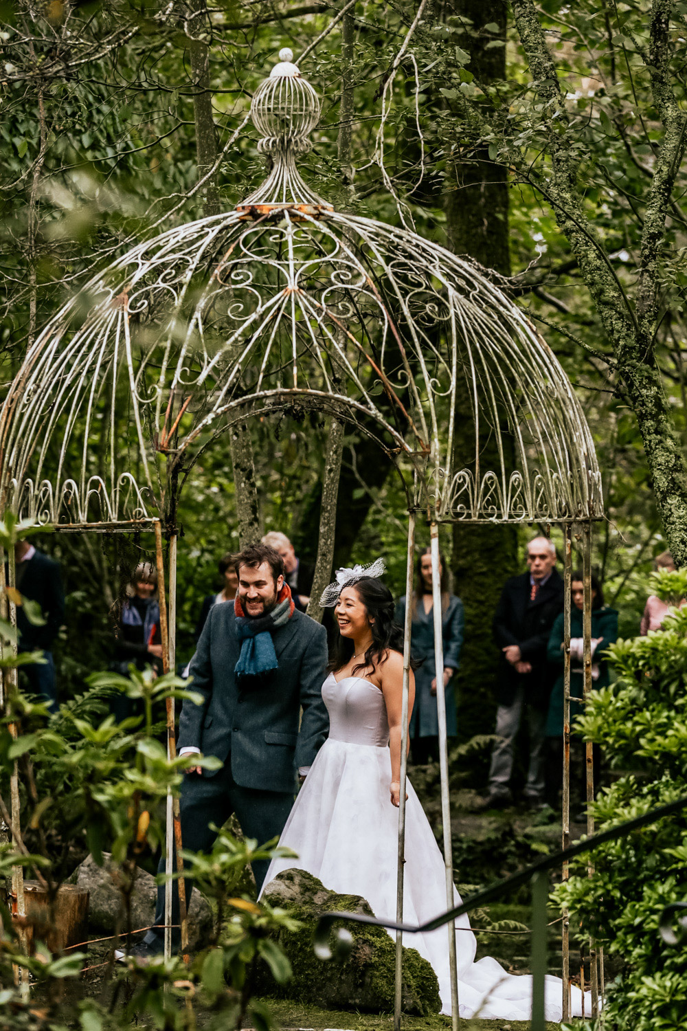 Inish Beg Estate wedding couple gazebo