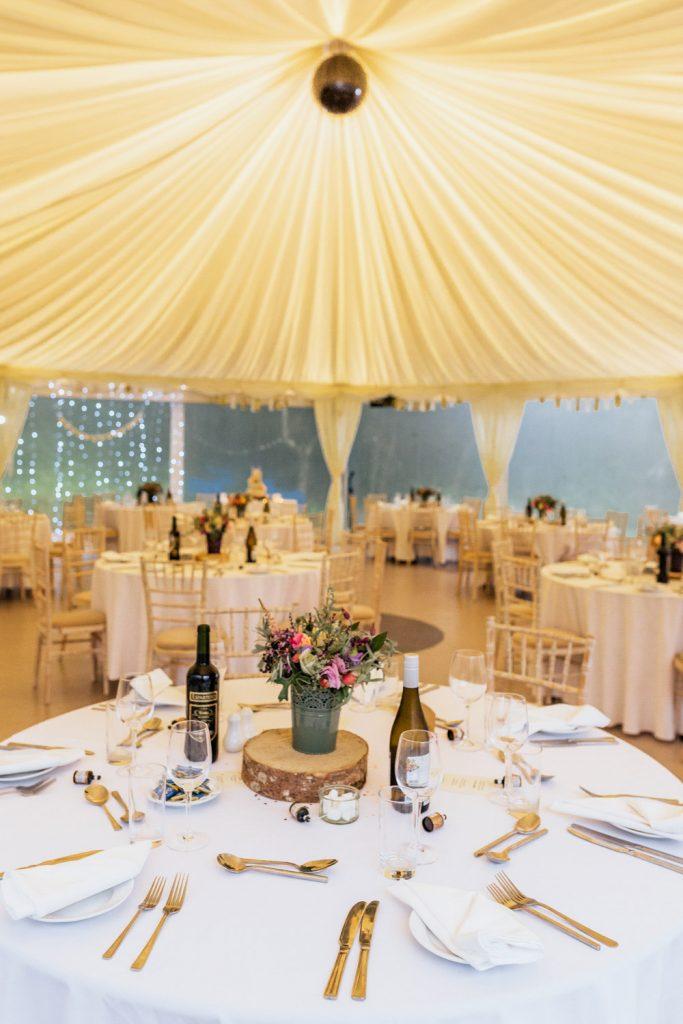 Inish beg marquee wedding decor