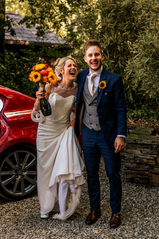 Inish beg estate happy wedding couple