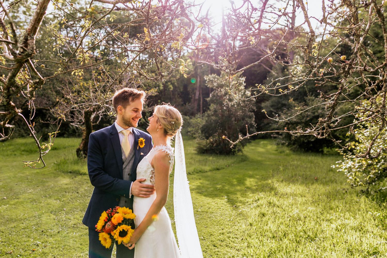 Inish beg weddings estate orchard wedding couple
