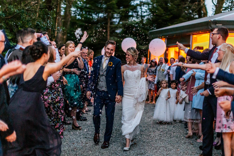 Inish beg weddings confetti wedding couple