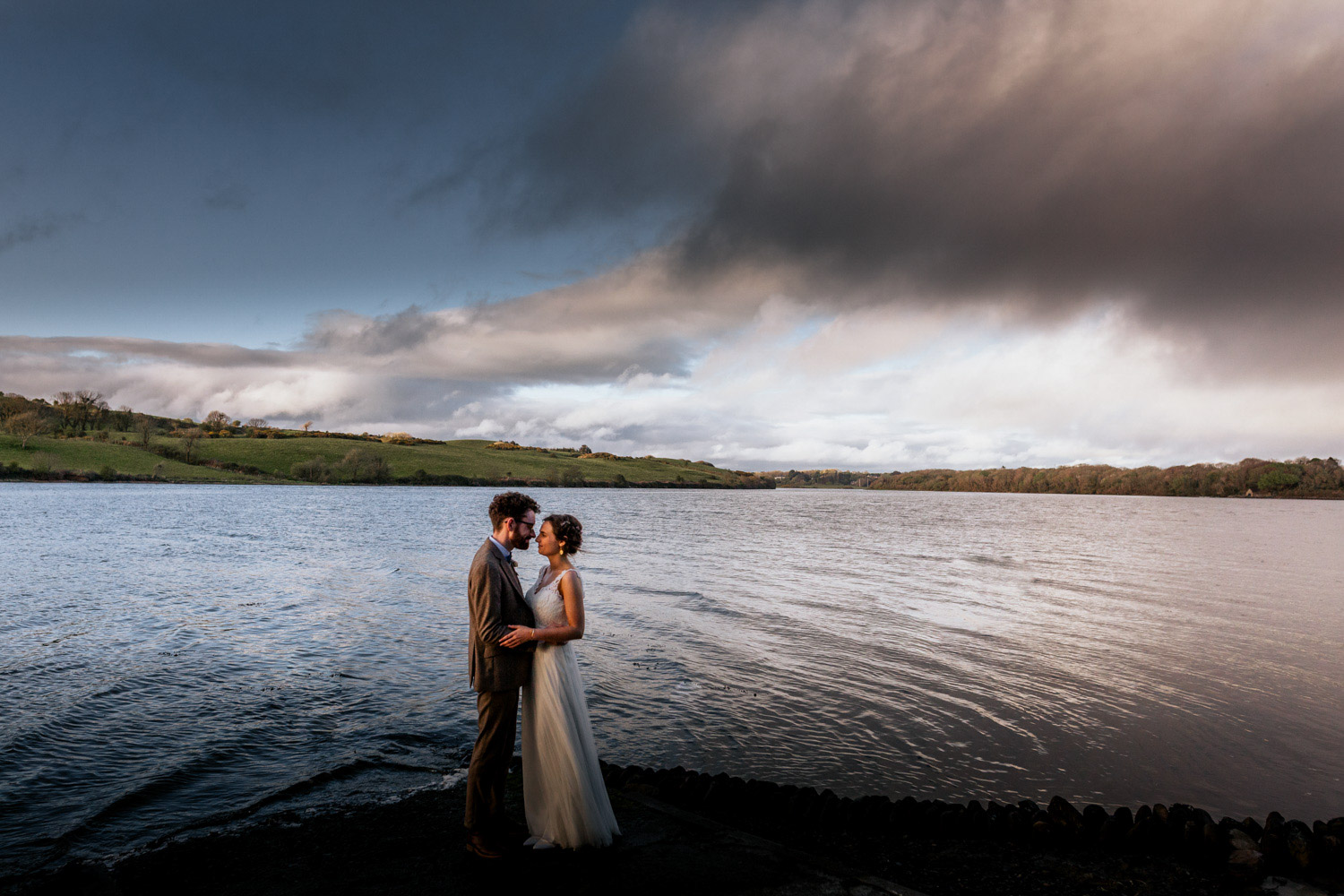 Inish Beg estate wedding couple