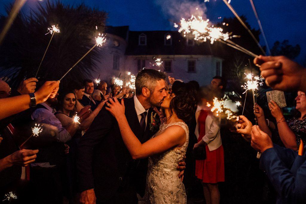 Innishannon House wedding sparkler exit