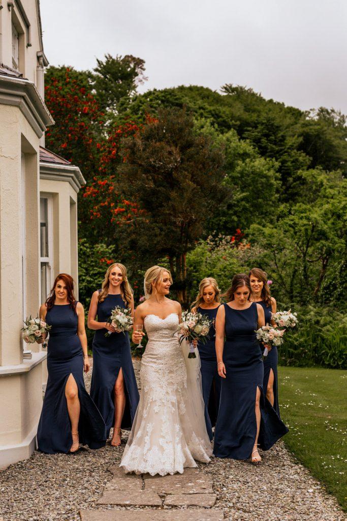 Liss Ard Estate wedding bridesmaids