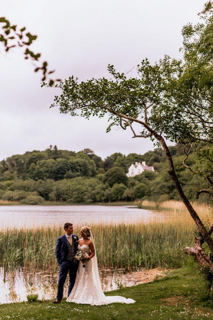 Liss Ard Estate wedding couple lake