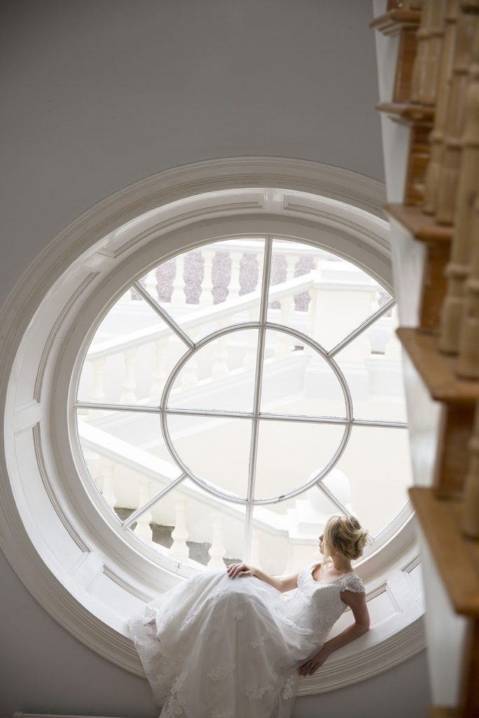 Liss Ard Estate wedding bride window