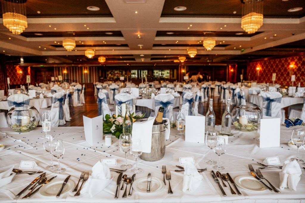 Maritime hotel wedding dining room
