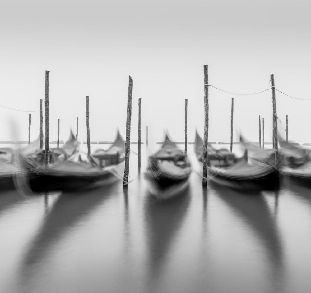 Venician boats long exposure