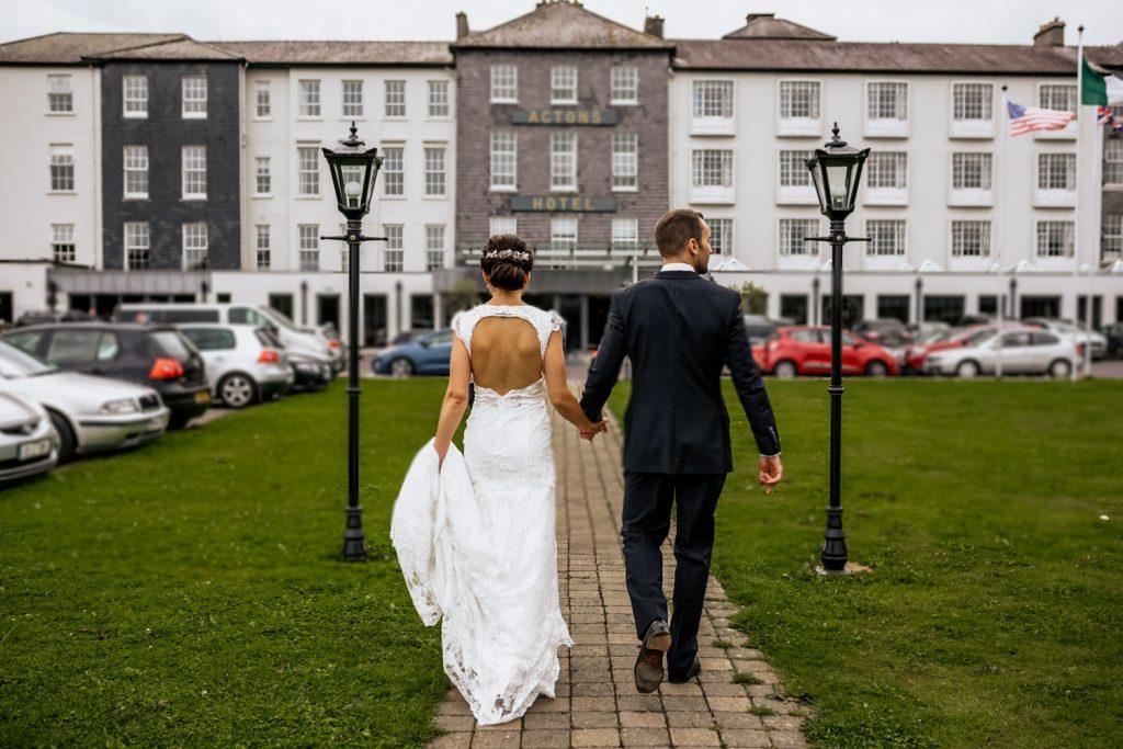 ACTONS HOTEL KINSALE WEDDING BRIDE GROOM