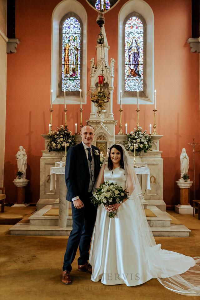 Kilcoe church west cork wedding decorations