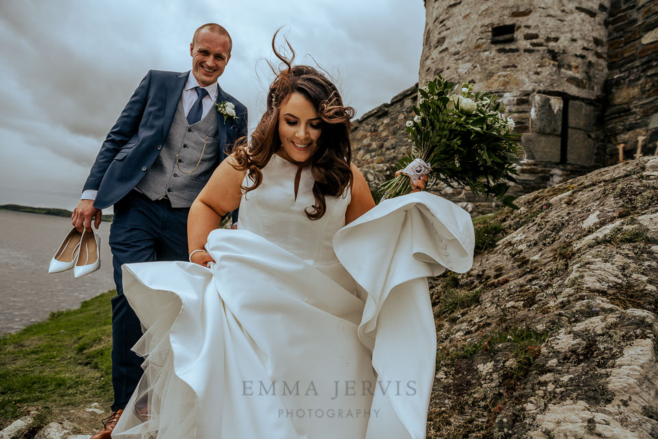 Kilcoe castle west cork wedding