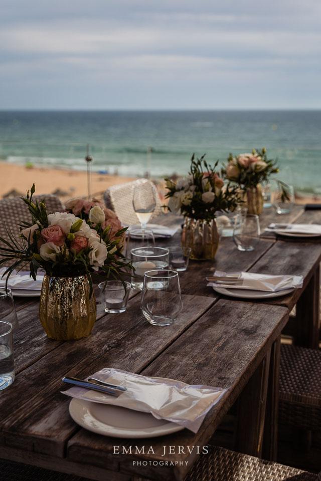 Maria's restaurant Vale do Lobo, Algarve, Portugal wedding.
